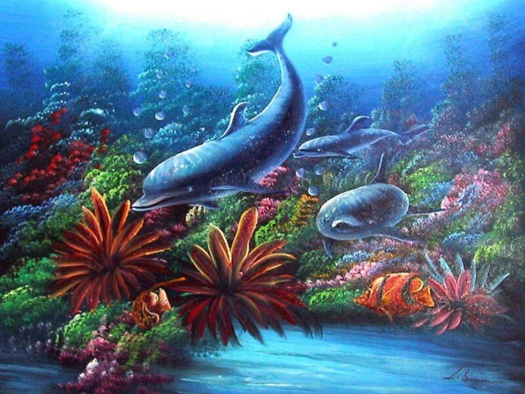Della Knox coral reef wallpaper 1024x768