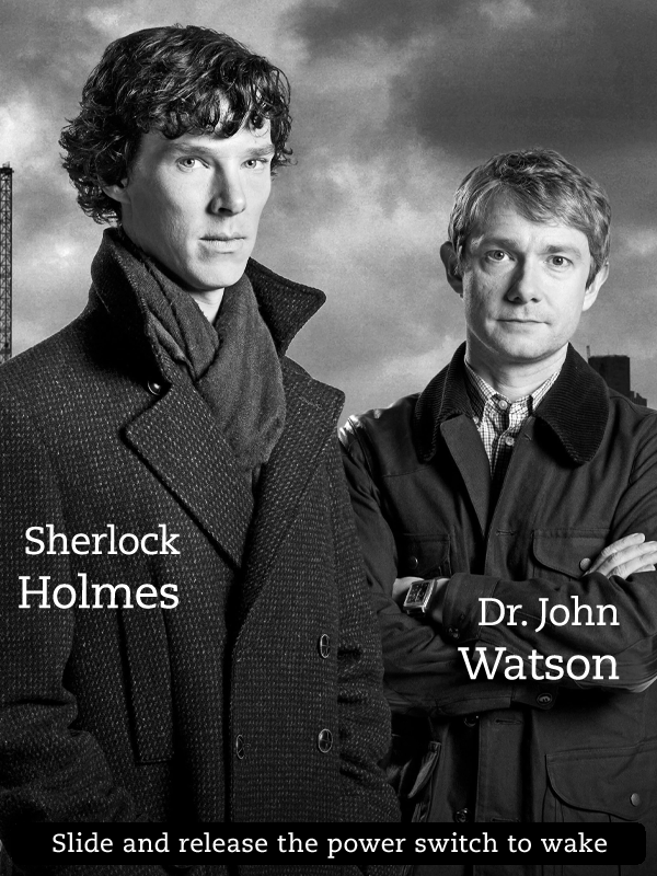 Kindle Screensaver Sherlock 2 by SongOrSuicide 600x800