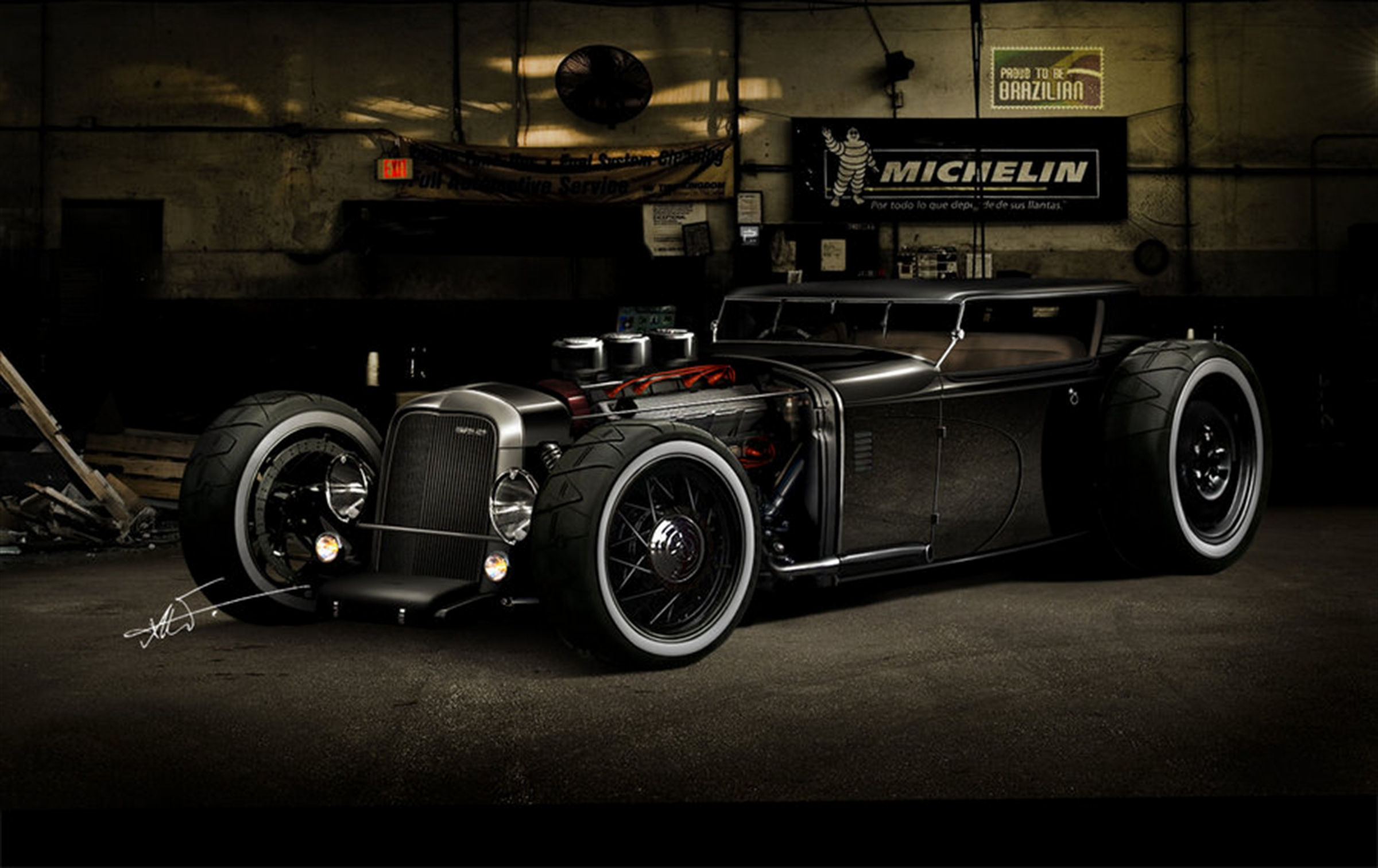 Hot Rod Wallpapers   A Link to the Past   MuscleDrive 2400x1512