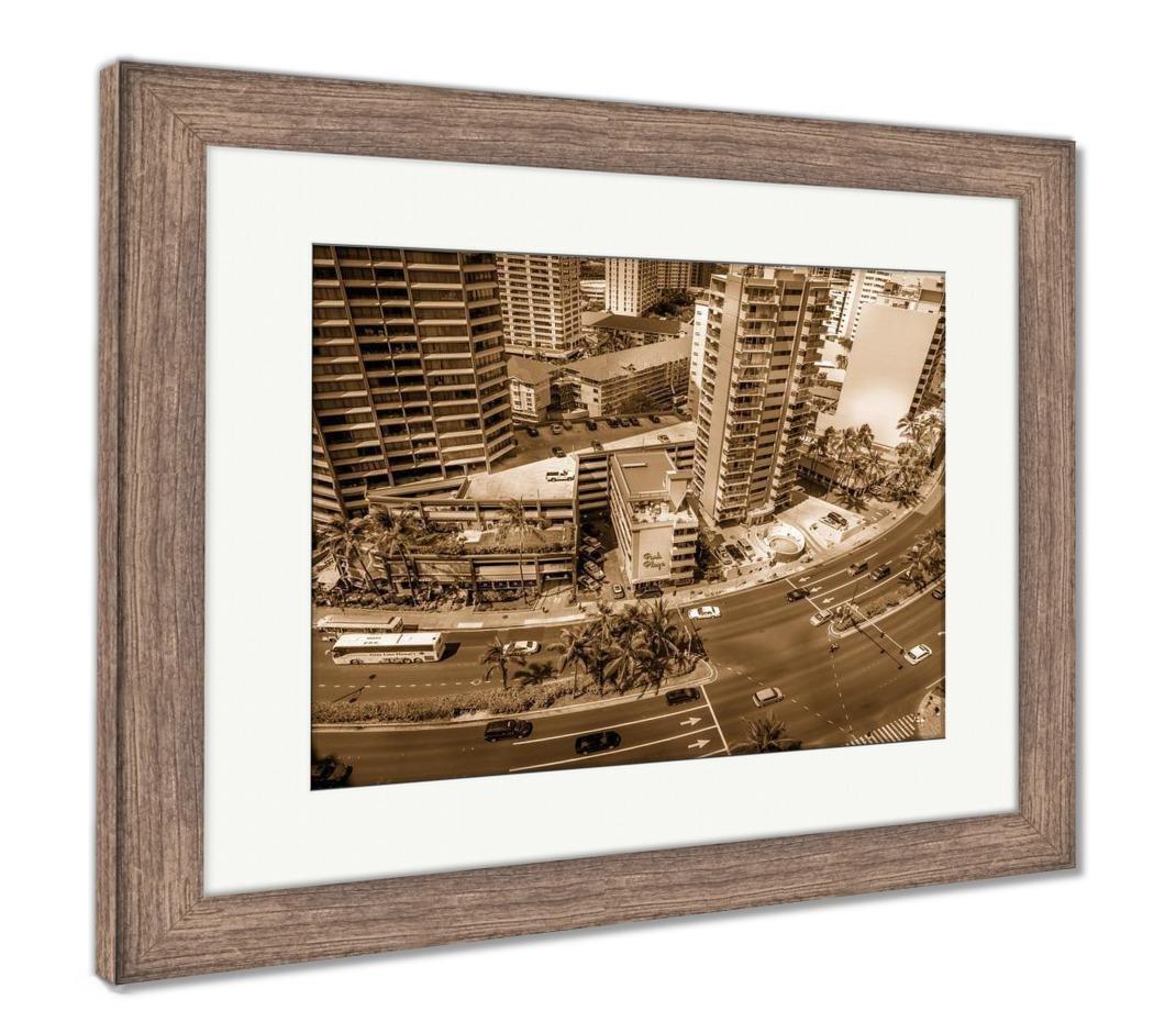 Amazoncom Ashley Framed Prints Waikiki Skyline Wall Art Home 1070x940