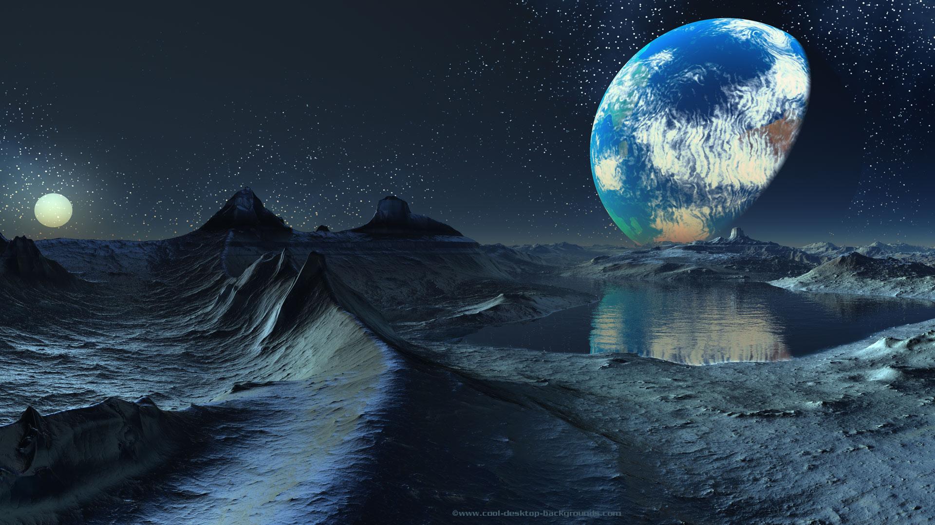 Planet Scifi Planets Desktop Water Full HD desktop wallpaper 1920x1080
