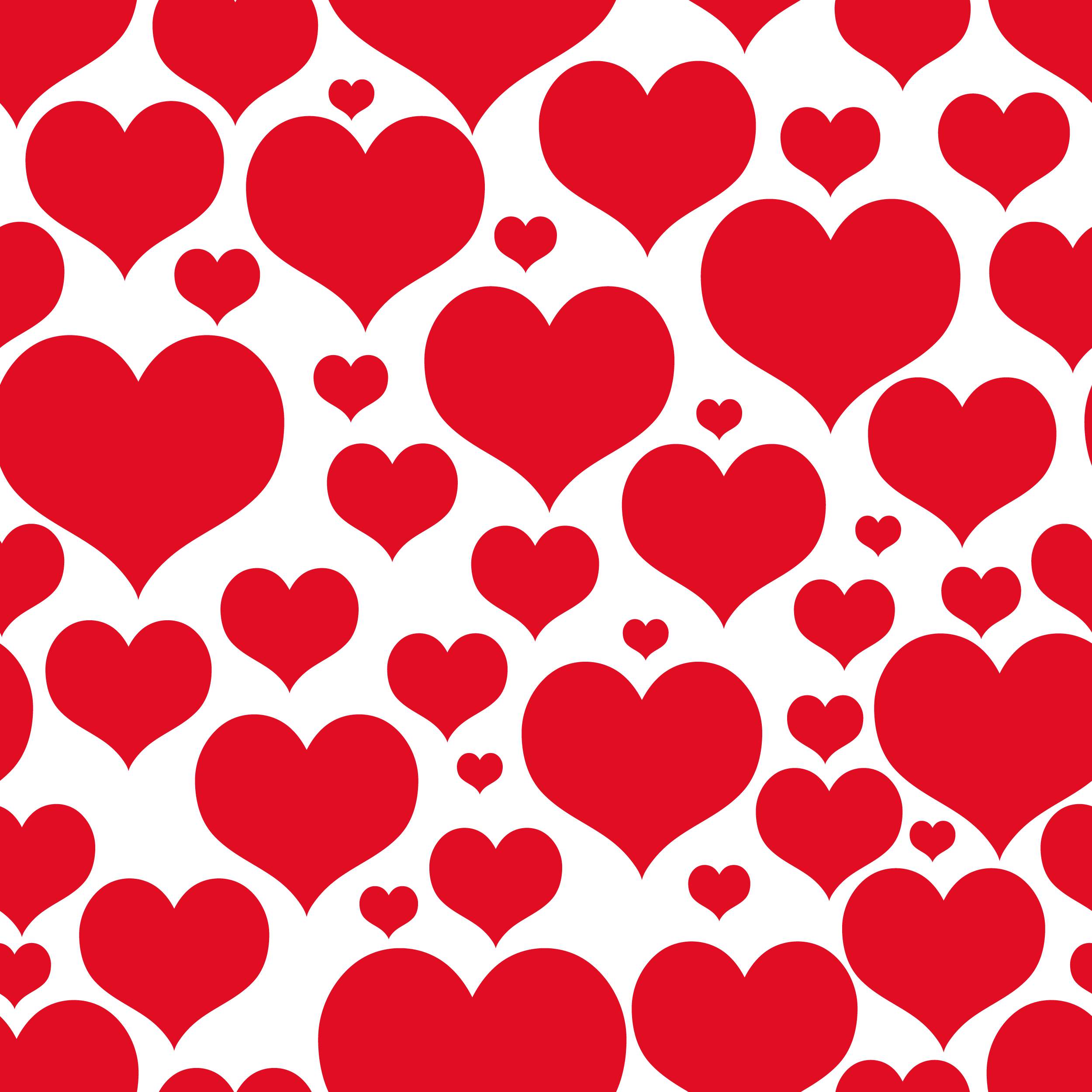 Valentines Day Transparent Heart Decor for Wallpaper Clipart 2500x2500