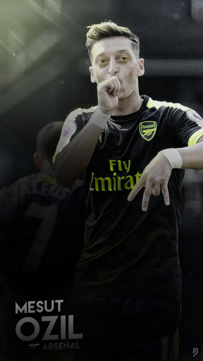 Mesut Ozil Wallpaper   Arsenal by abgrafix96 670x1192