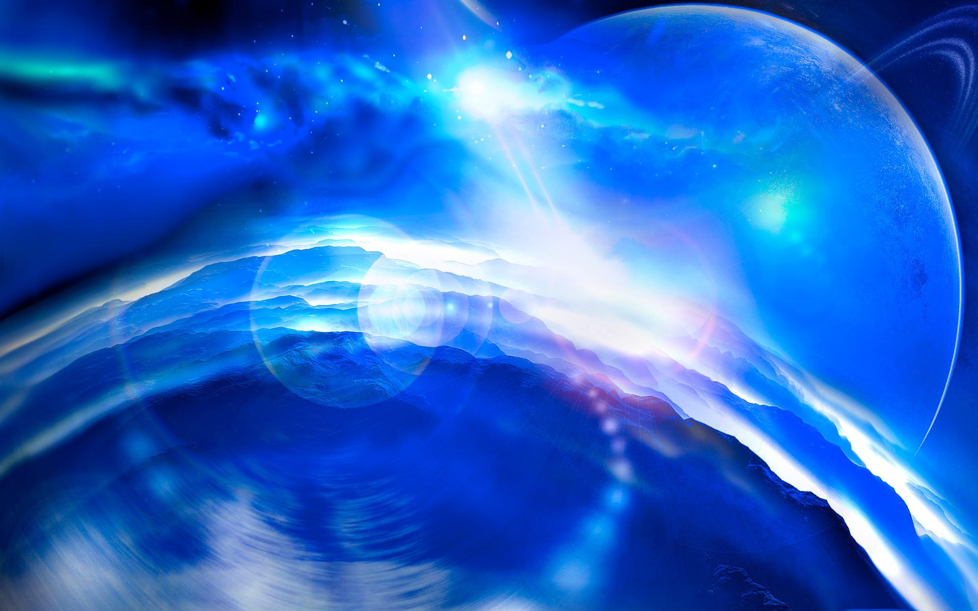 Blue planet wallpaper wallpapersafari - Blue space hd ...