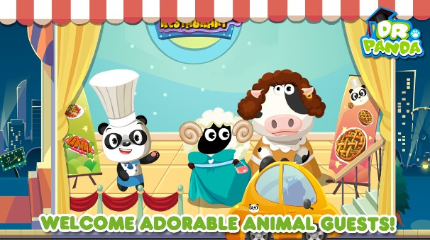 Cooking Game for Kids Dr Pandas Restaurant Kindle Fire 606x339