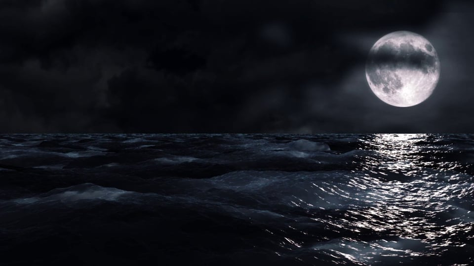 Moon Over Sea at Night   HD Motion Background on Vimeo 960x540