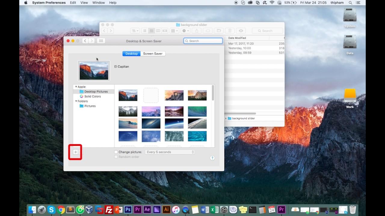 How to create a desktop background slideshow Macbook  Mac OS X 1280x720