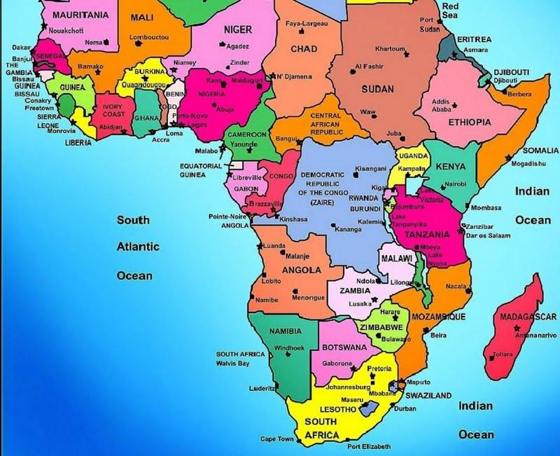 High resolution POLITICAL MAP   AFRICA desktoplaptop wallpaper 800x651