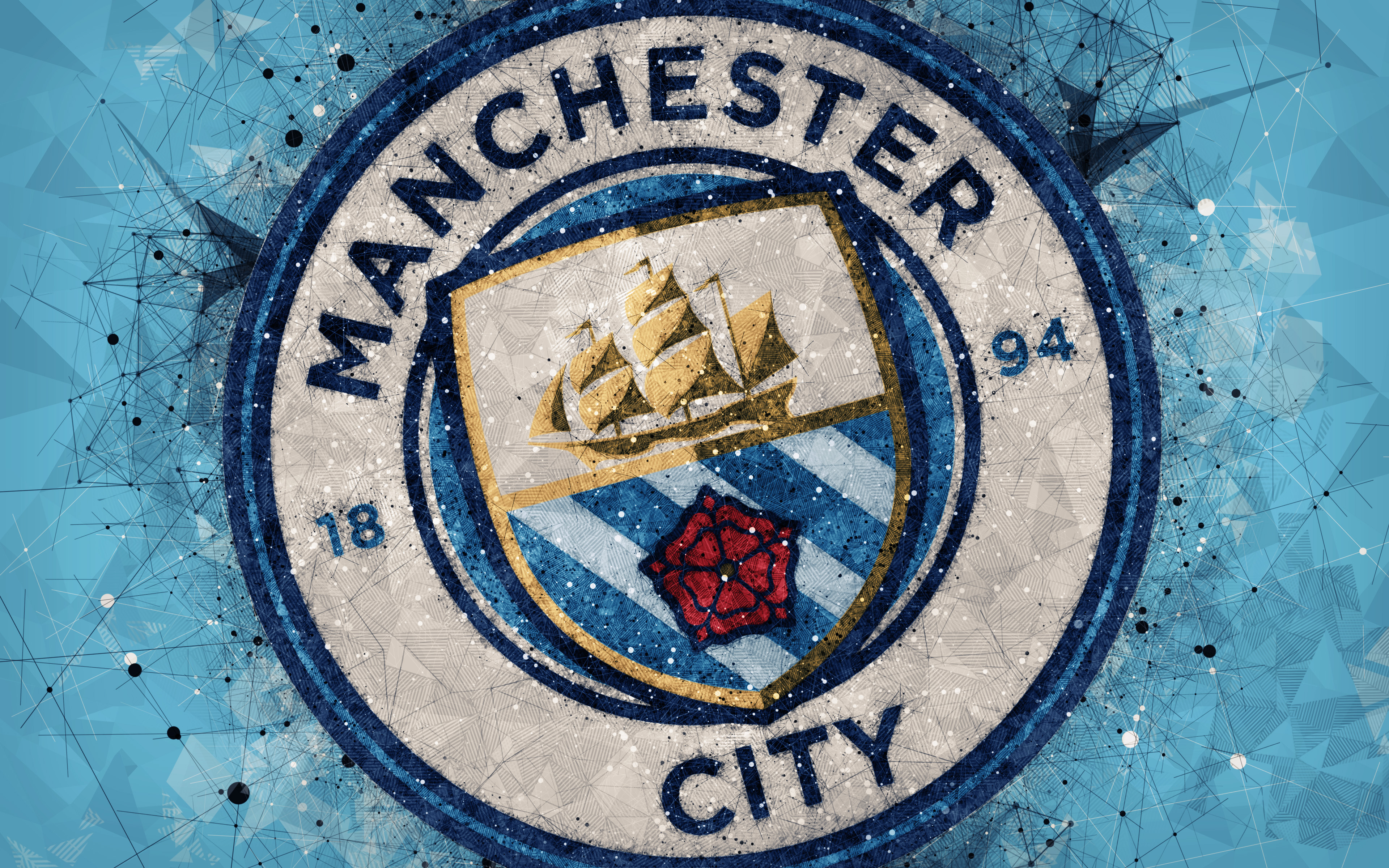 Free download Manchester City Logo 4k Ultra HD Wallpaper ...