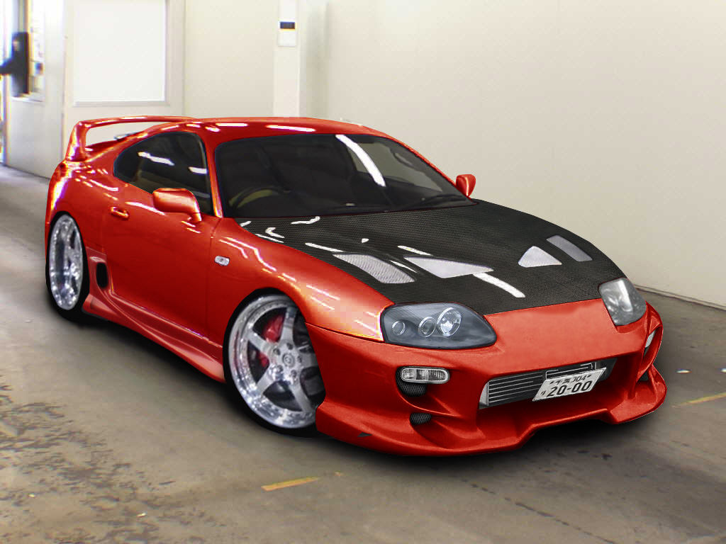Red Toyota Supra 22416 Hd Wallpapers in Cars   Imagescicom 1024x768