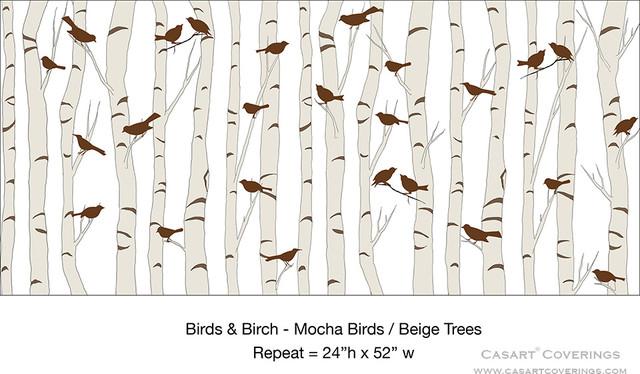 Birds Birch   Wallpaper   dc metro   by Casart Coverings 640x374