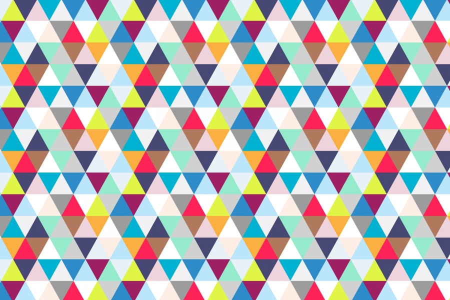 Free Download Geometric Multicoloured Geometric Triangles