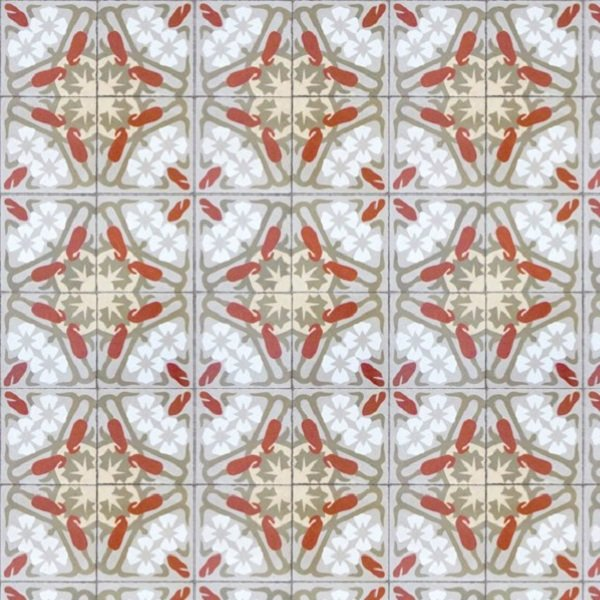 Tiles   Paper Moon Art Deco Terracotta Grey 3000011   Select Wallpaper 600x600
