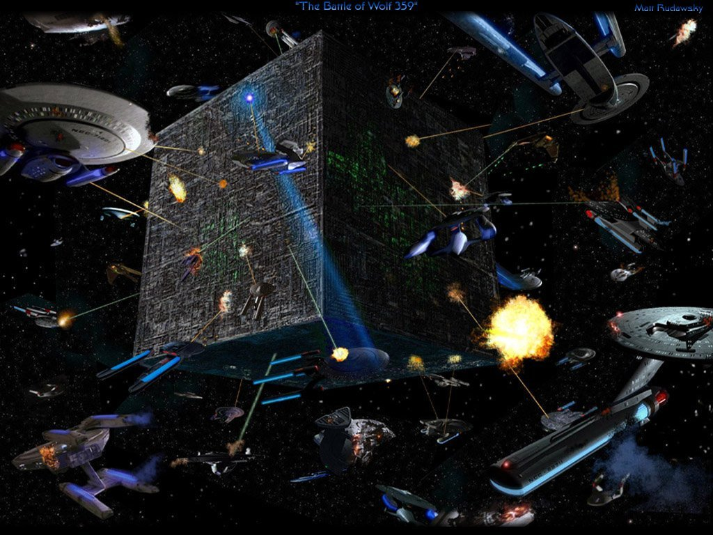 Download Deep Space Nine wallpaper Borg Wars Wallpaper 1024x768