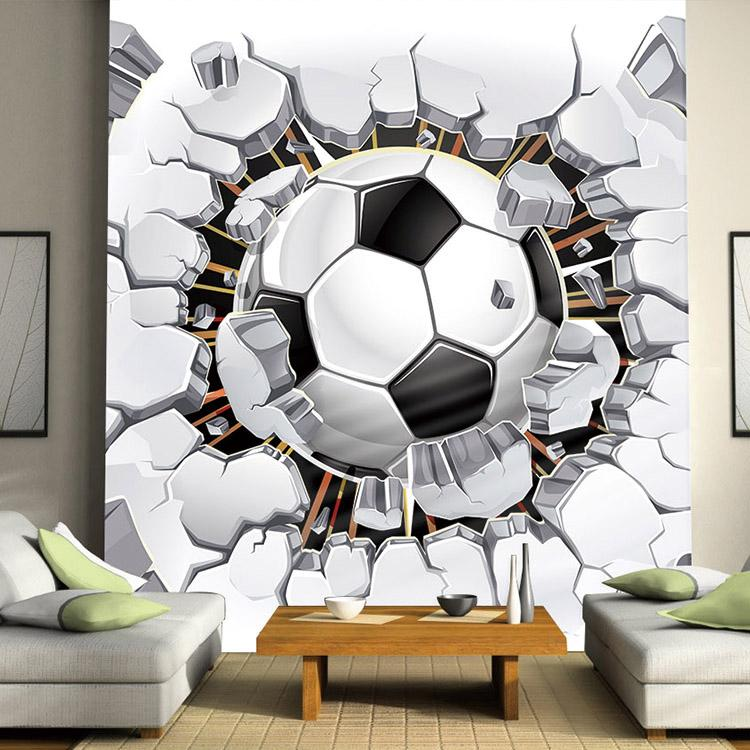 Football Photo Wallpaper Soccer Wall Mural 3D Wallpaper Passion 750x750