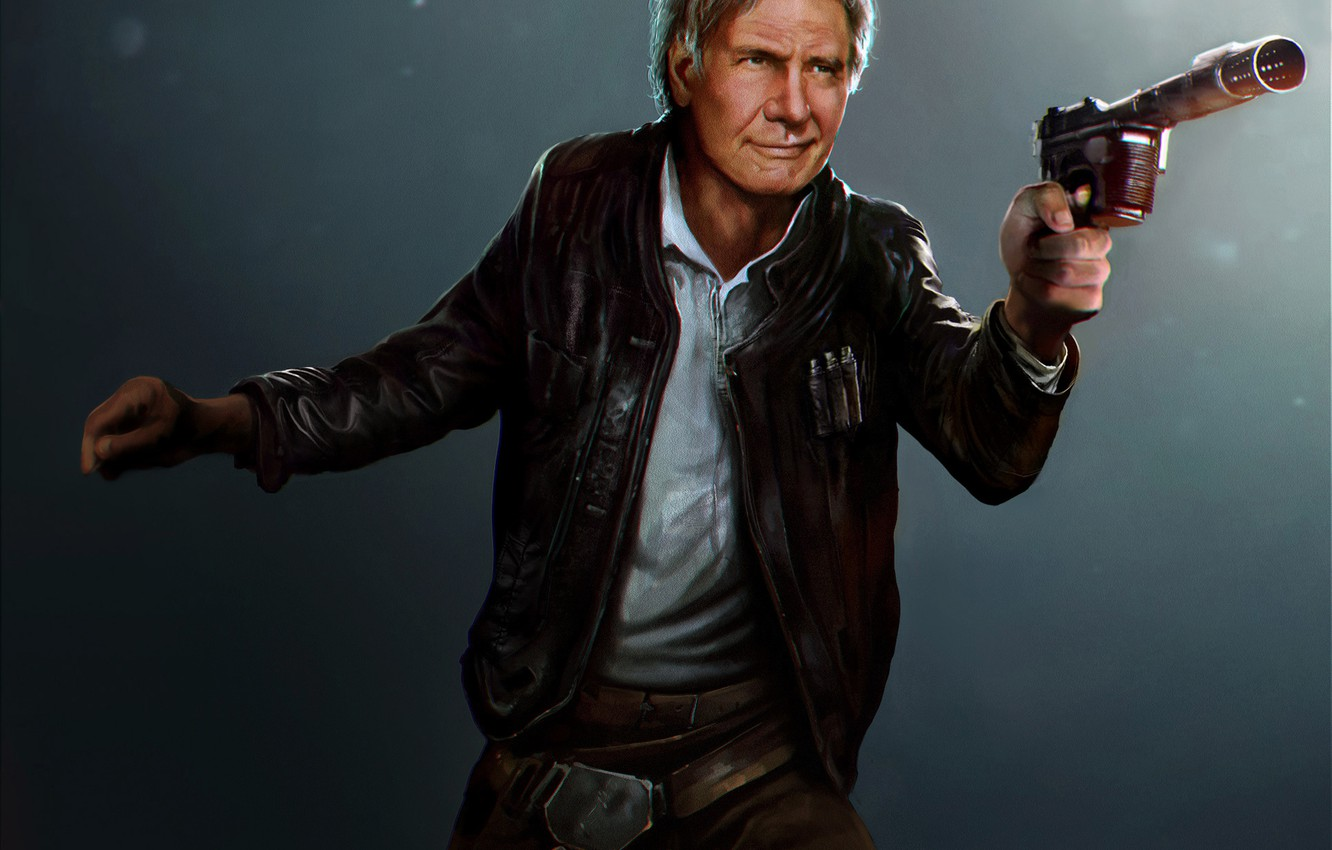Wallpaper the old man star wars art Harrison Ford han solo 1332x850