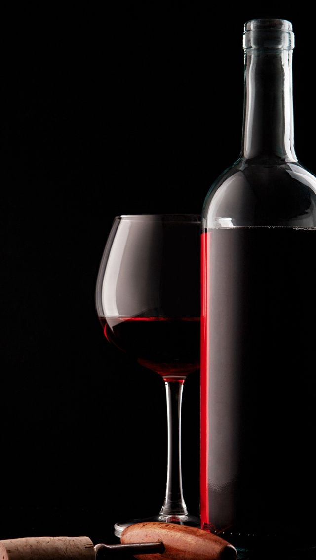 Red Wine Glass Bottle And Corkscrew iPhone Wallpapers Wine 640x1136