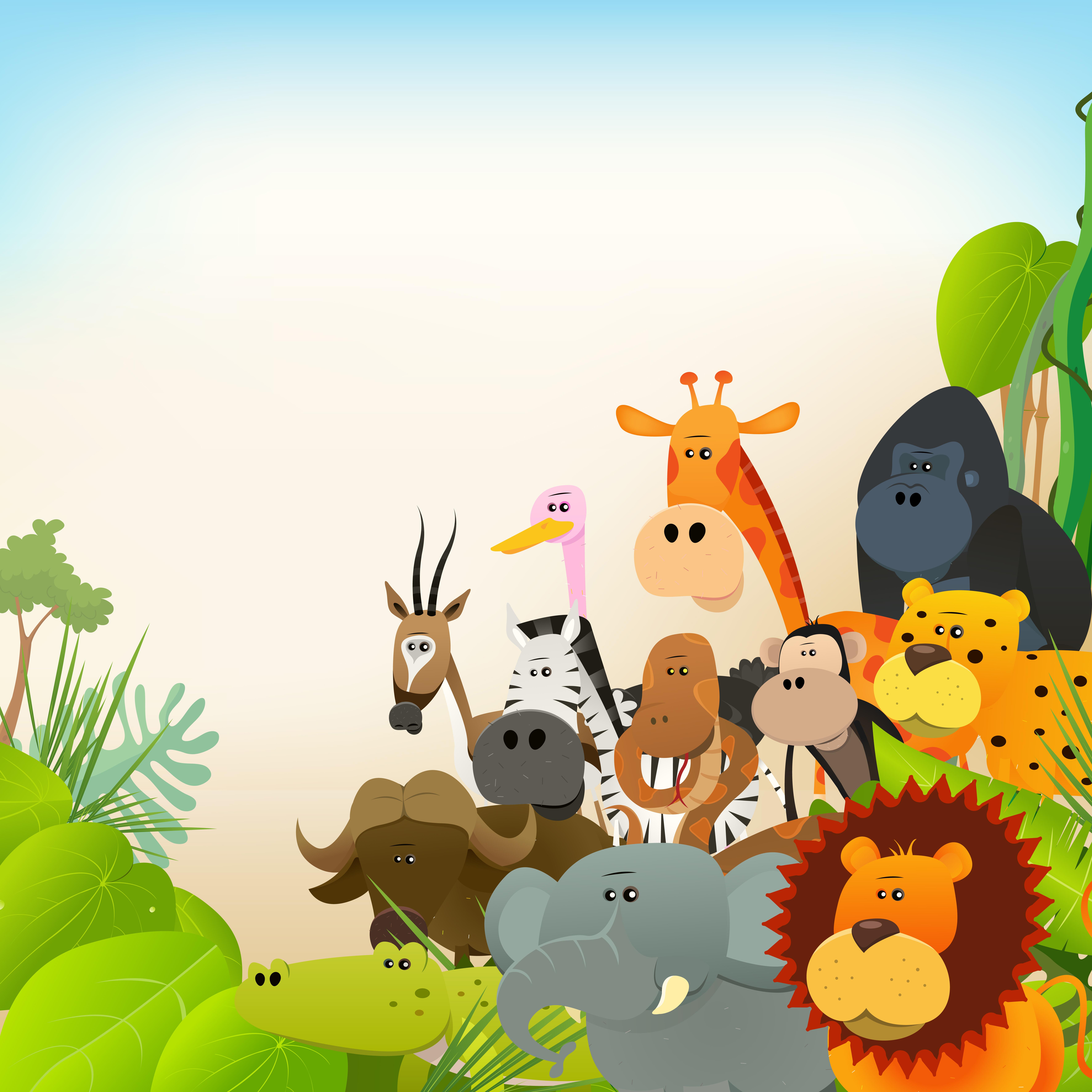 Wildlife Animals Background 269389   Download Vectors 7087x7087