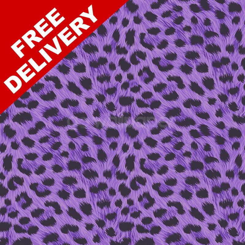 Fine Decor Furs Leopard Print Wallpaper in Black and Purple   FD30683 800x800
