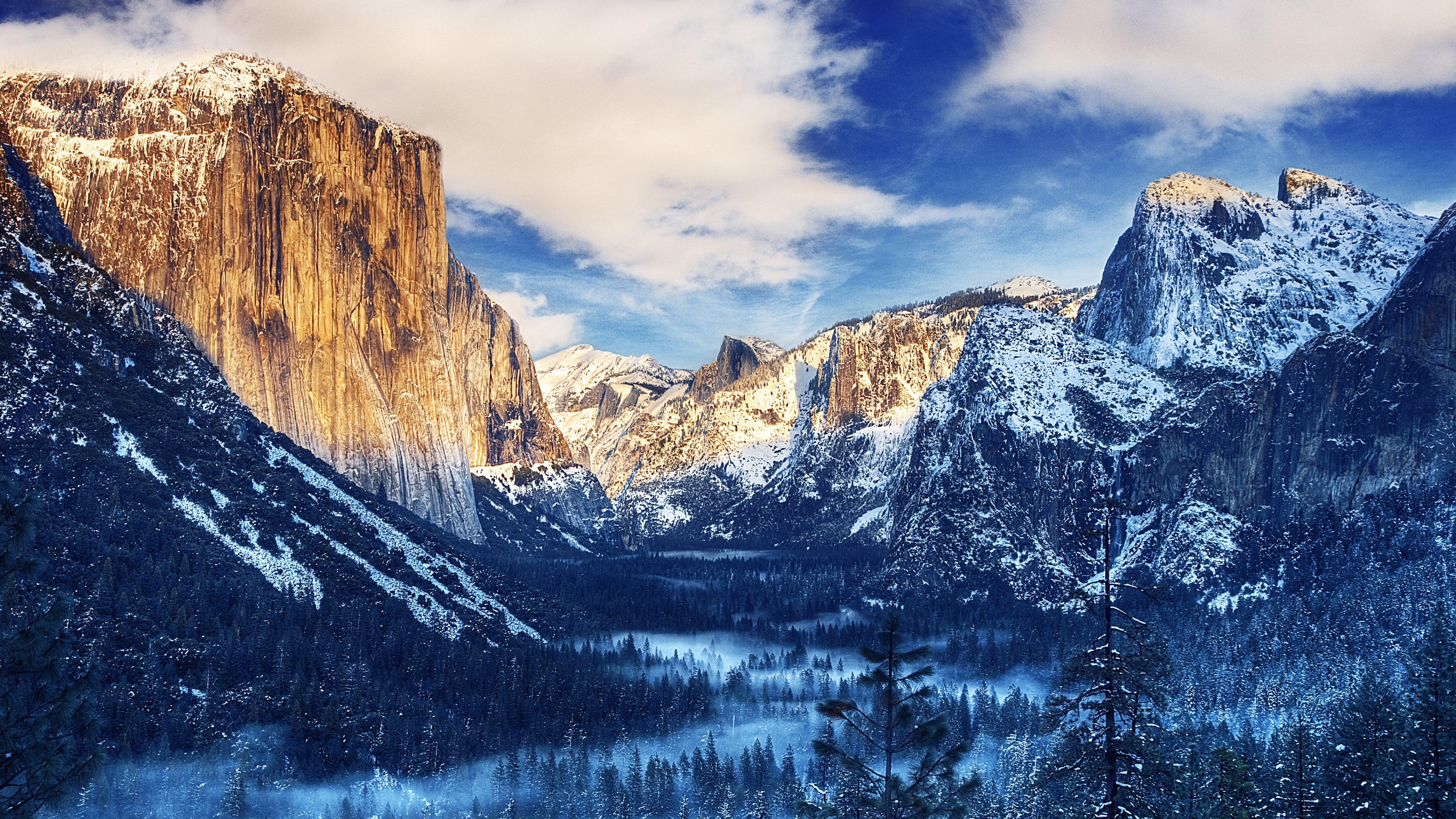 Sunrise   Tunnel View in Yosemite Valley Yosemite National Park 3840x2160