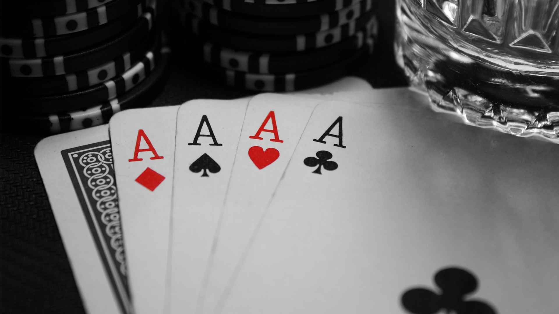 1920x1080 Poker Aces Combination Excitement Chips Wallpaper 1920x1080