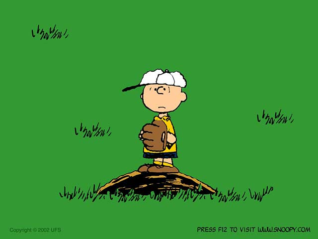The Peanuts Baseball Game Screensaver features Charly Brown and 640x480
