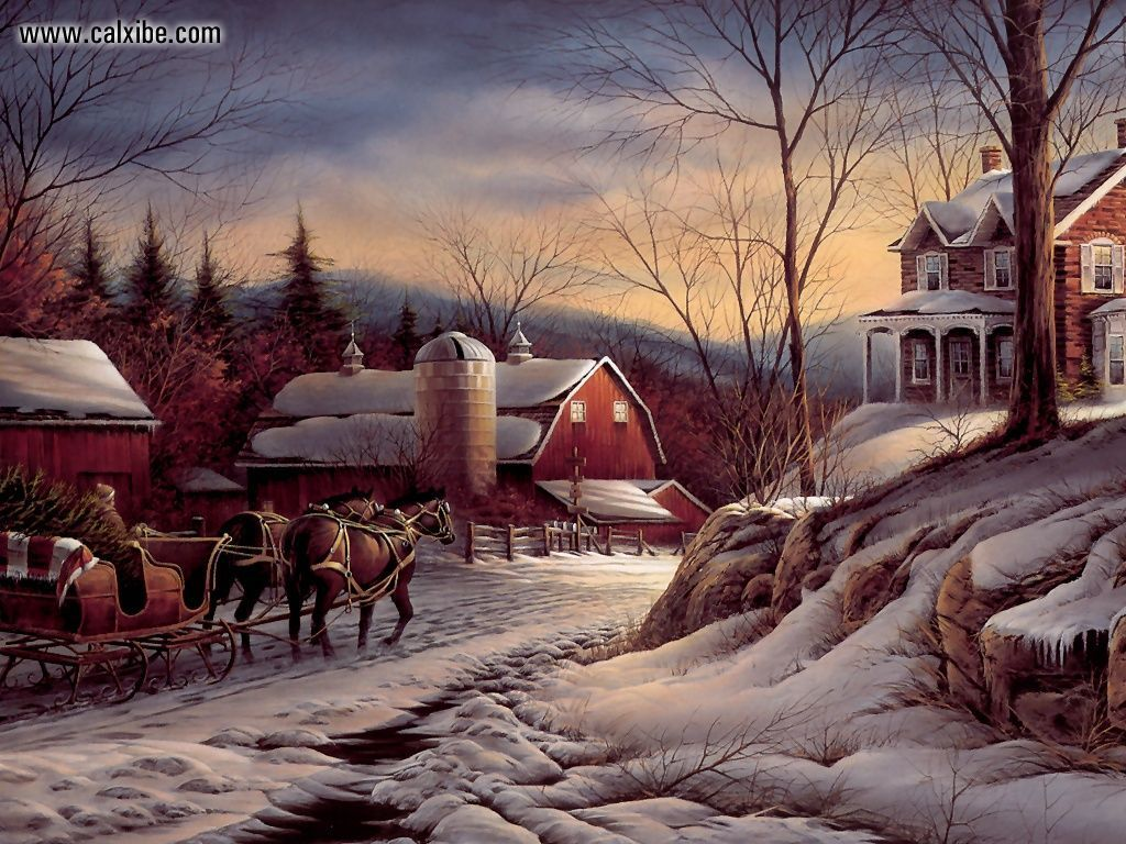 Drawing Painting Coming Home by Terry Redlin picture nr 10655 1024x768