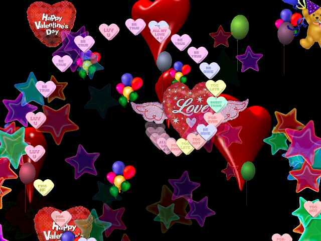 Valentine Love Wallpapers Animated Valentine Facebook Covers 3D Love 640x480