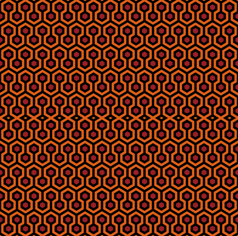 Overlook Hotel Carpet from The Shining OrangeRed wallpaper 800x796