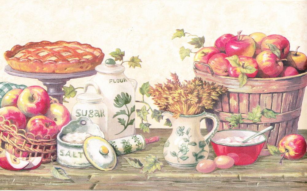 KITCHEN GRANNYS APPLE PIE Berautiful Wallpaper bordeR Wall eBay 1000x624