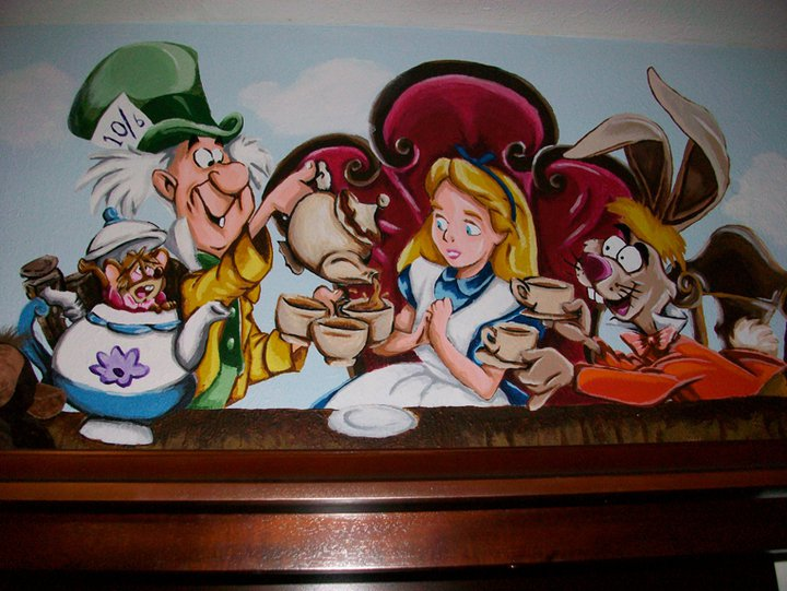 Alice In Wonderland Mural 04 By Wicked 720x541