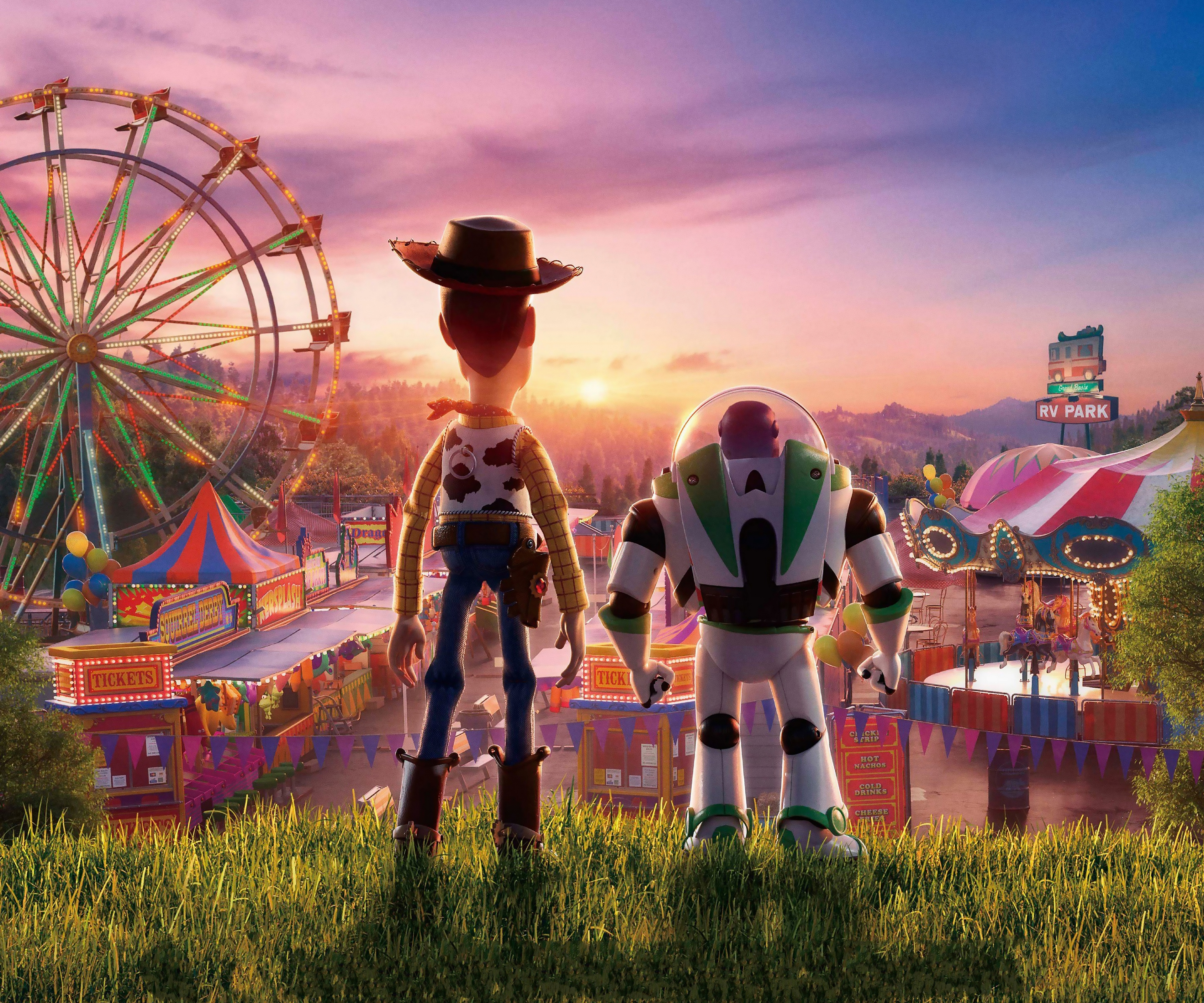 Toy Story 4 Woody and Buzz Lightyear Wallpaper 4k Ultra HD ID3310 3840x3200