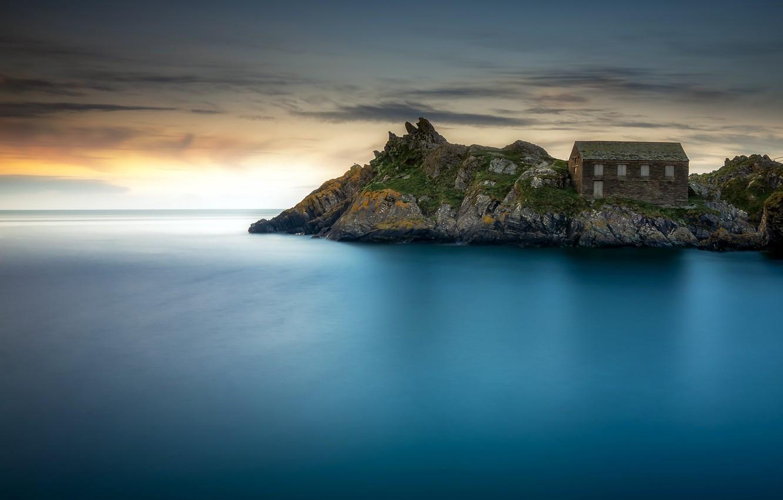 Wallpaper sea shore Cornwall Polperro images for desktop 1332x850