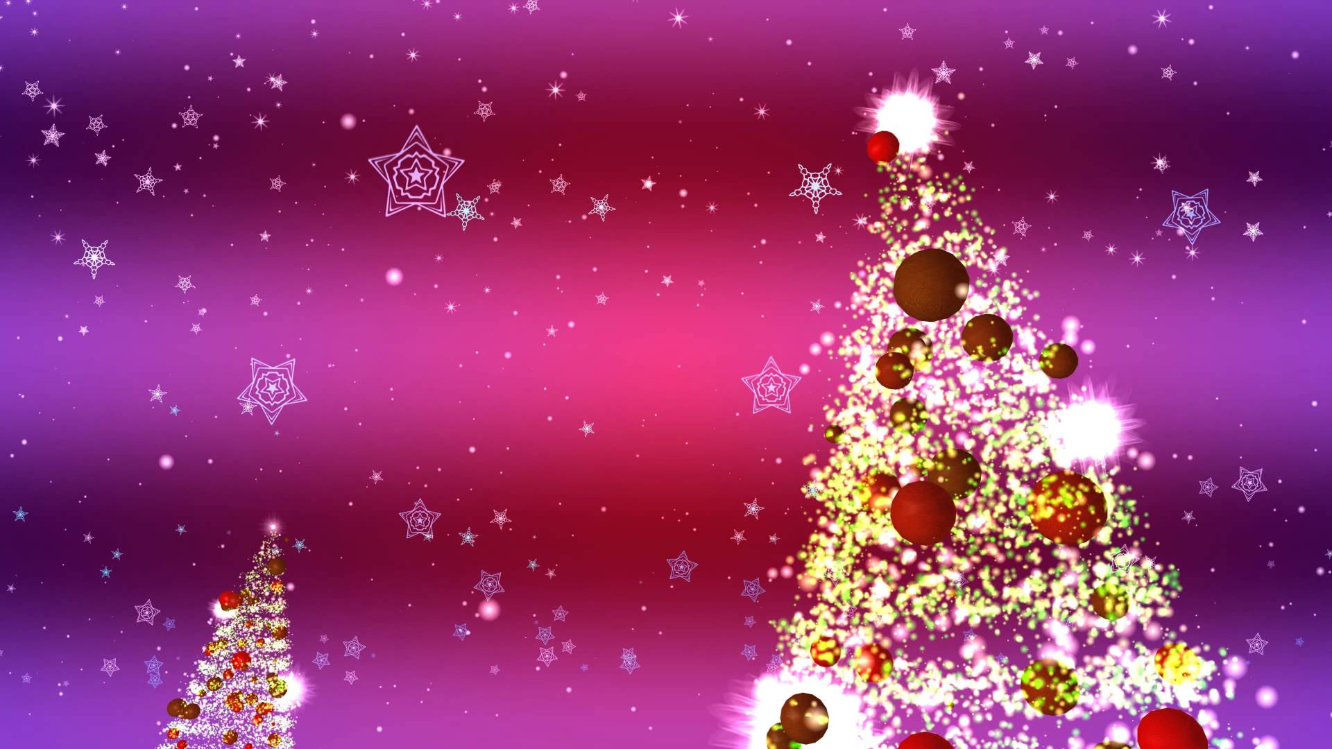 4K CHRISTMAS TREE and SNOWFLAKES ANIMATION BACKGROUND AA VFX 1920x1080