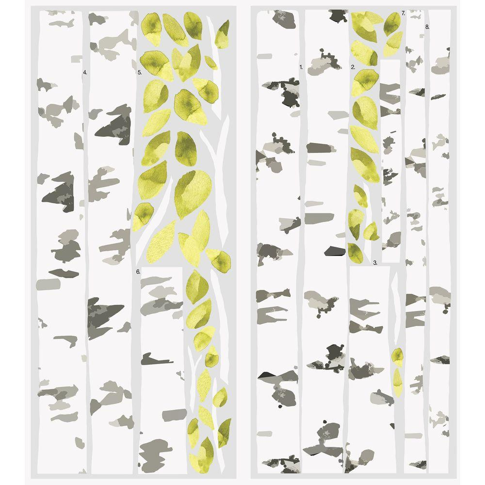 RoomMates Wall Decorations 5 in x 19 in Birch Trees Peel and Stick 1000x1000