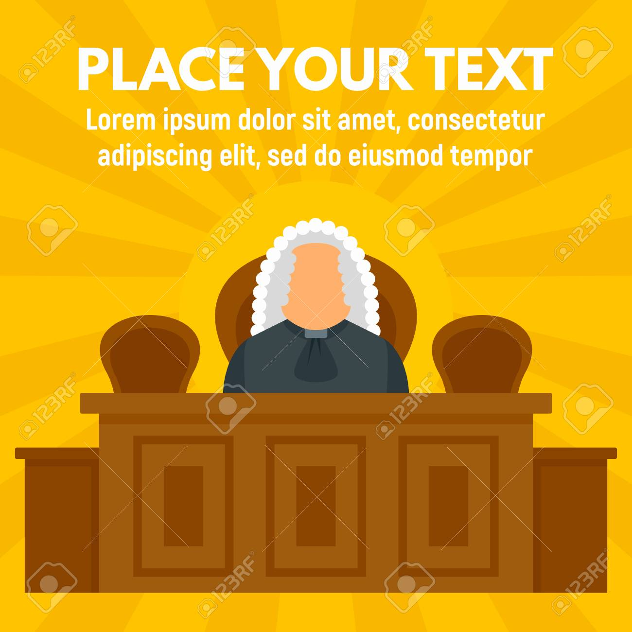 Judge Courthouse Concept Background Flat Illustration Of Judge 1300x1300