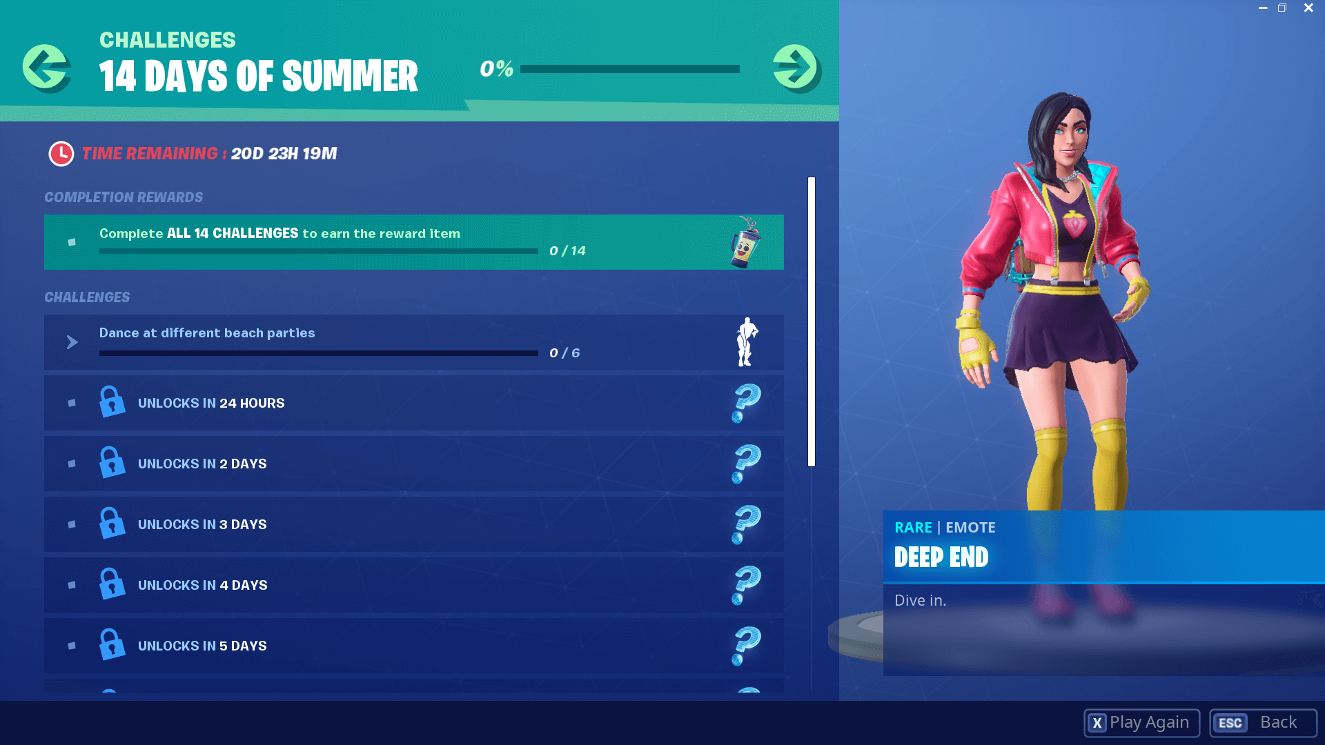 Fortnite 14 Days of Summer Challenges and Rewards List Dot Esports 1920x1080