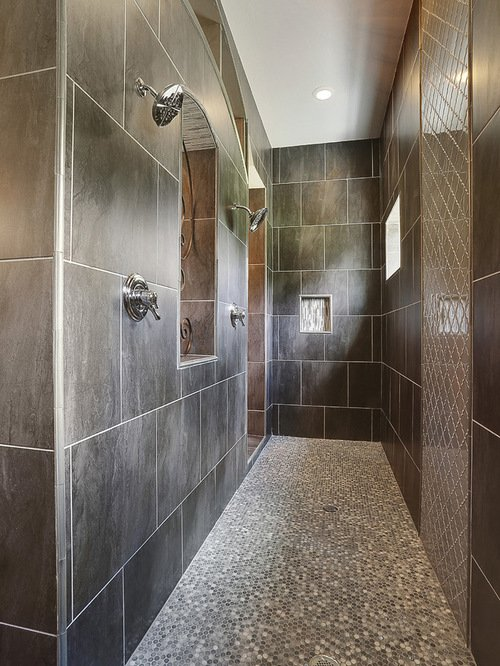 Bathroom Design Ideas Renovations Photos with Mosaic Tile Floors 500x666