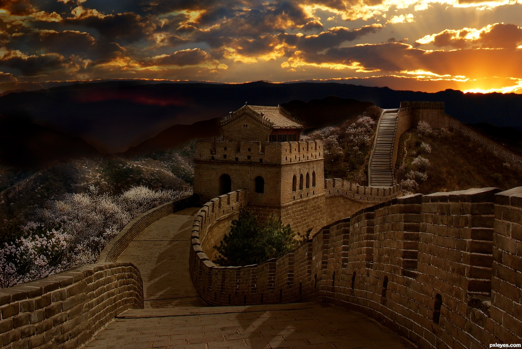 Free Download Great Wall At Sunset Picture By Elemare For The