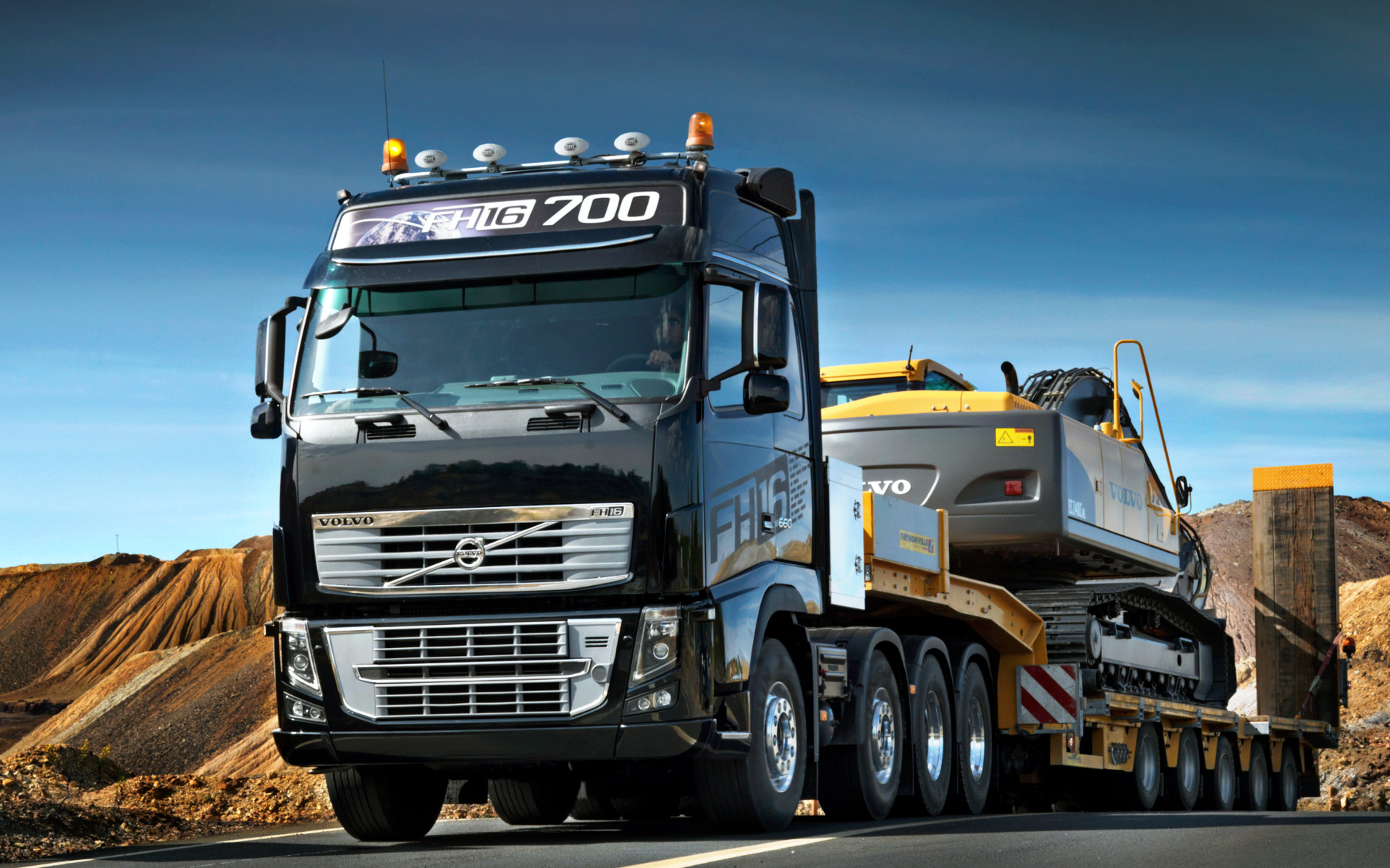 Commercial vehicles volvo truck backgrounds Car Wallpapers 1920x1200