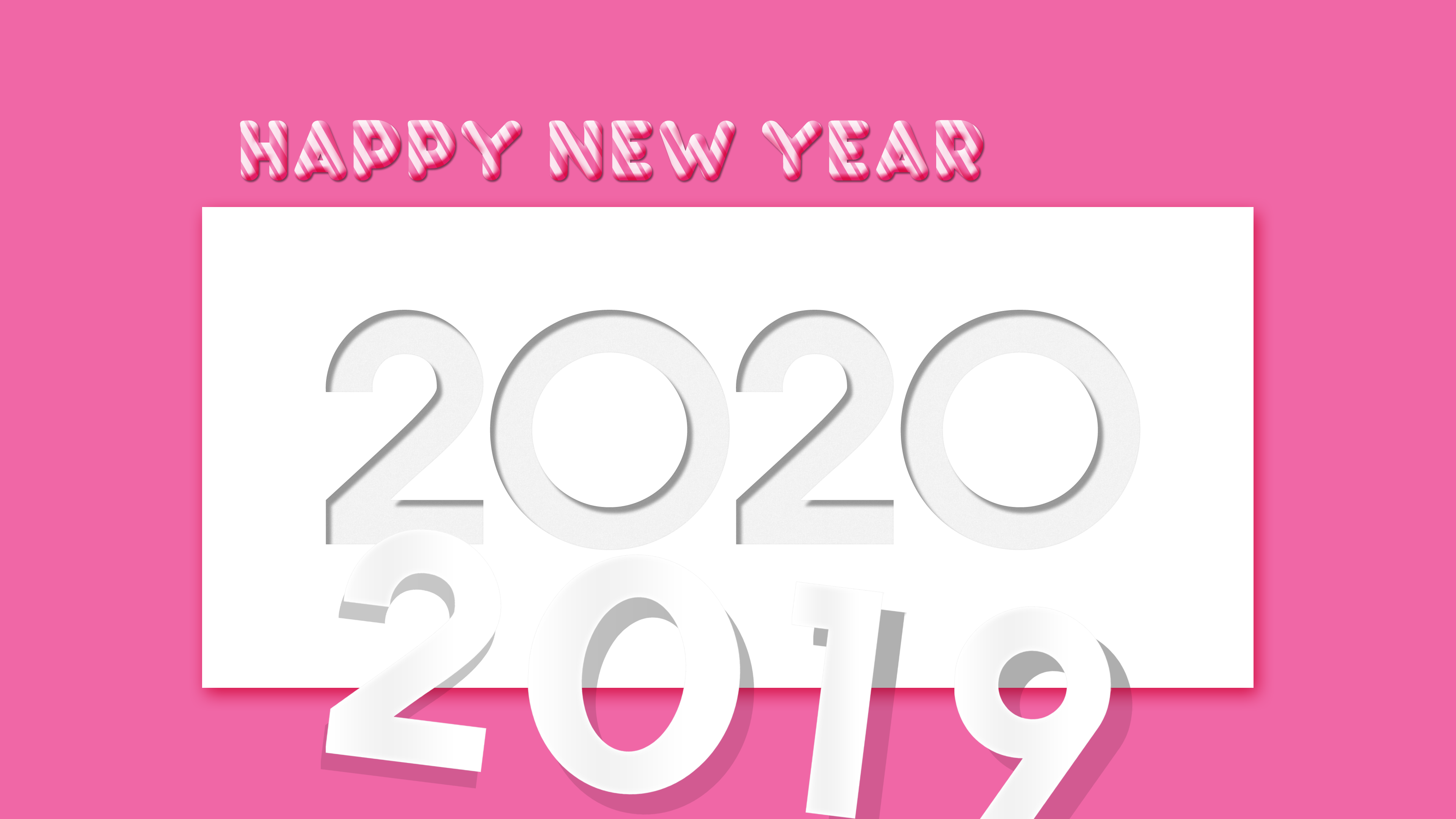 New Year 2020 4k Ultra HD Wallpaper Background Image 3840x2160 3840x2160