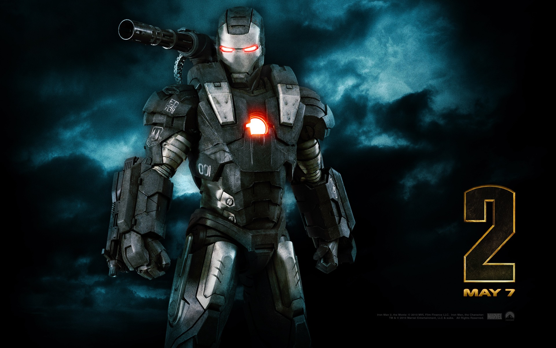 iron man 2 war machine desktop wallpaper