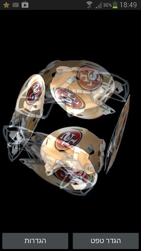 View bigger   SF 49ers Cube Live Wallpaper for Android screenshot 288x512