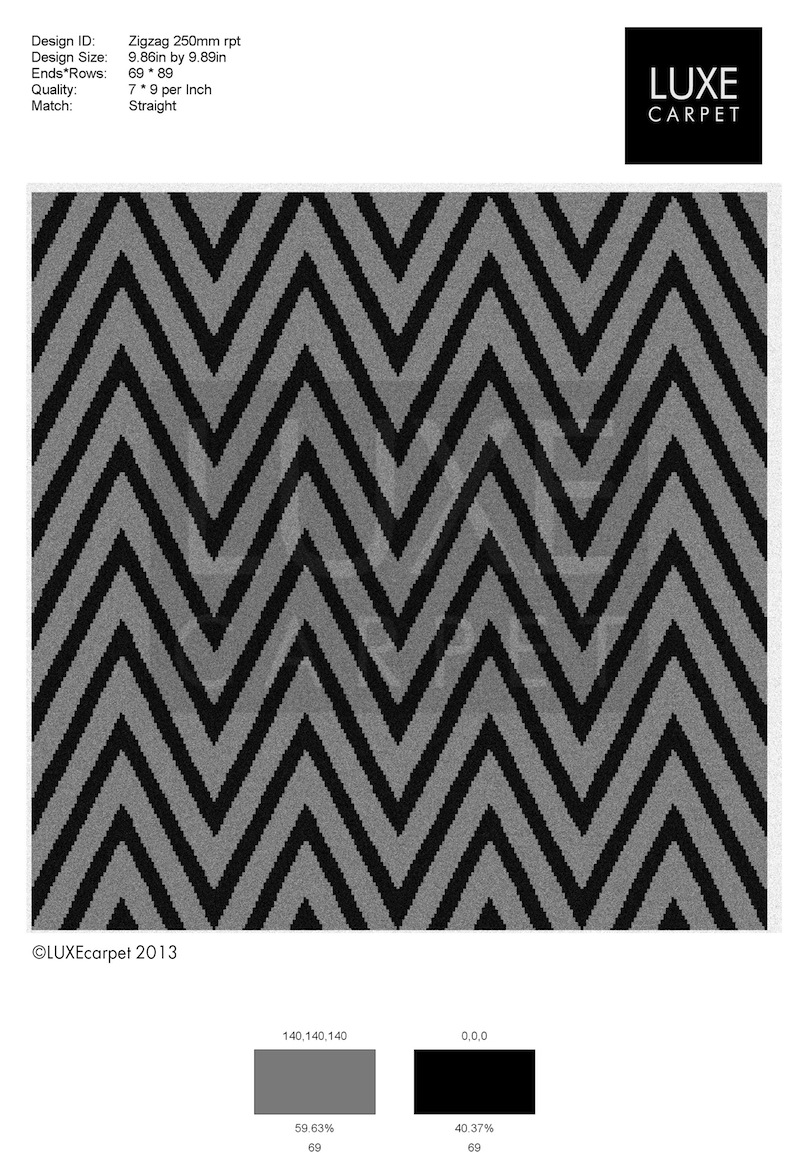Zigzag Pattern Carpet 800x1153