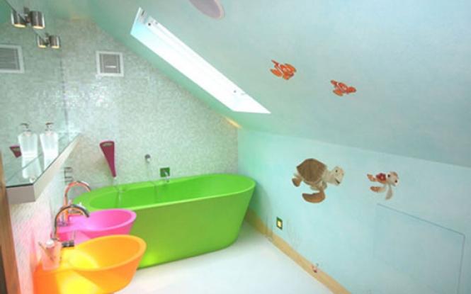 Funny turtle wallpaper kids bathroom wallpaper design for exclusive 665x415