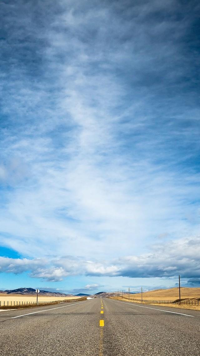Wallpaper road 4k HD wallpaper clouds day sky dream Nature 127 640x1138