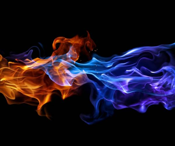 960x800 Red And Blue Flame   Smartphone Wallpaper Gallery 600x500