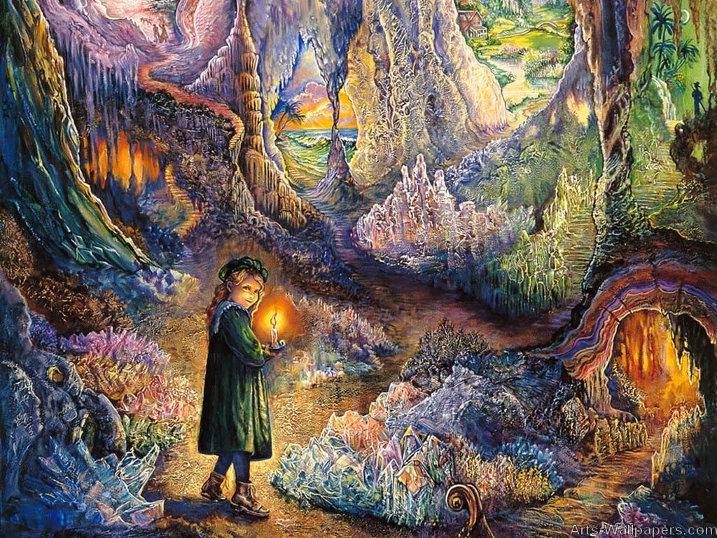 Josephine Wall Paintings Art Print Wallpapers Art Painting 1024x768