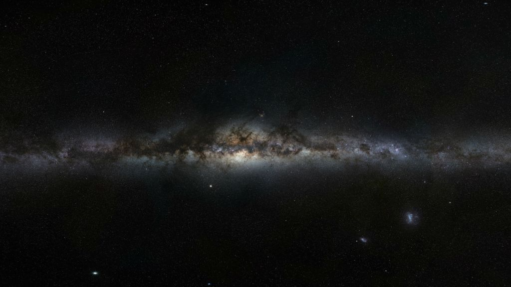 Our galaxys dash through space seen as tale of attraction and 1024x576