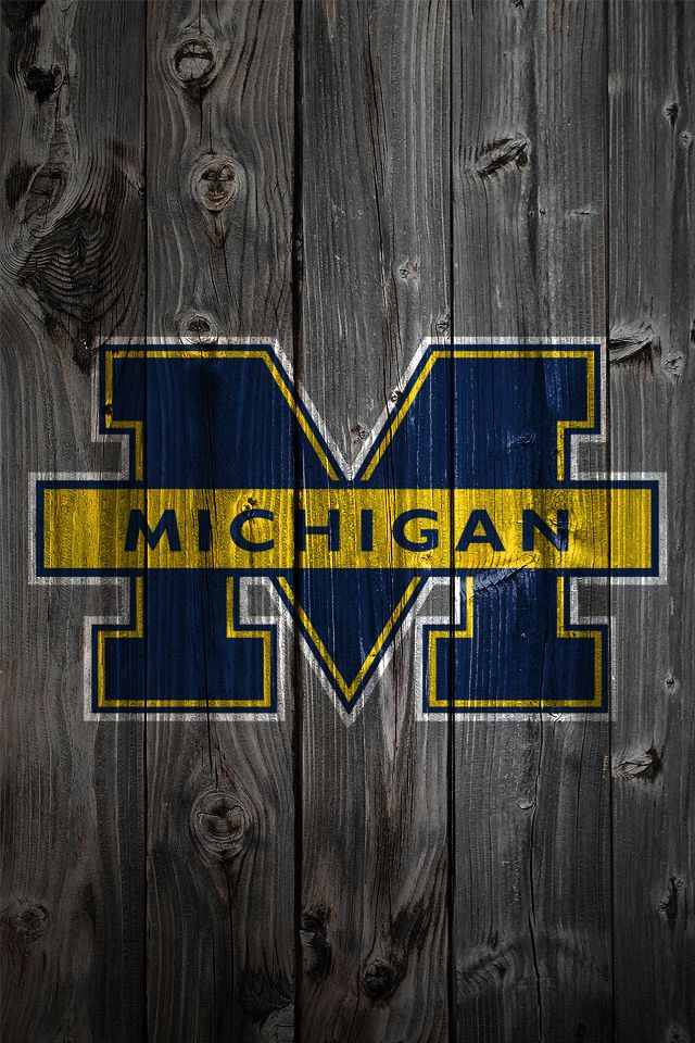 Michigan Logo   weathered wood iphone wallpaper Oh HAIL YES 640x960
